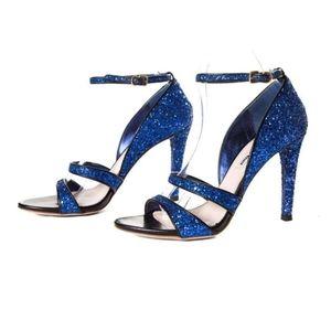 Miu Miu Glitter Ankle Straps Heels